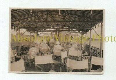 Old Photograph On Board Steamer Whangpoo River Shanghai China Vintage 1930S