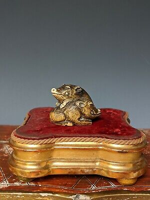 Antique Japanese Netsuke Carved Signed Pair Of Wild Boars Family Meiji 19th C NR