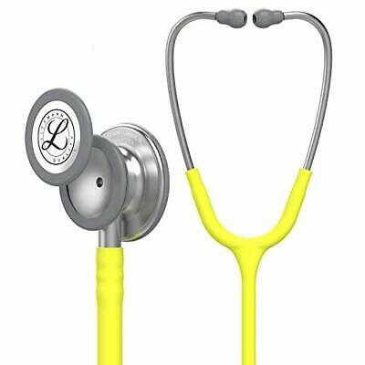 3M Littmann Classic III Monitoring Stethoscope, Lemon-Lime Tube, 27 Inch, 5839