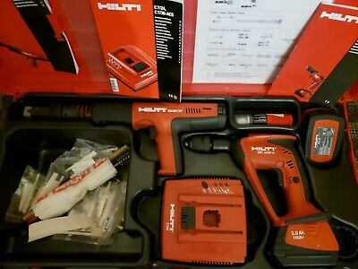 Hilti Dx351 Bt Powder Actuated Tool, Xbt 4000-A Drill, C7/24 Charger.