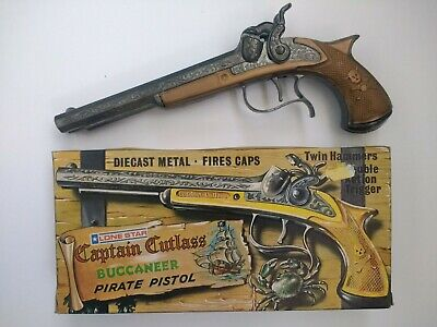 Lone Star Captain Cutless Buccaneer Pirate Pistol Diecast Metal Cap Gun
