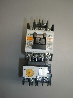 Fuji Electric Sc-03 Magnetic Contactor, Coil With Tr-0N Relay New