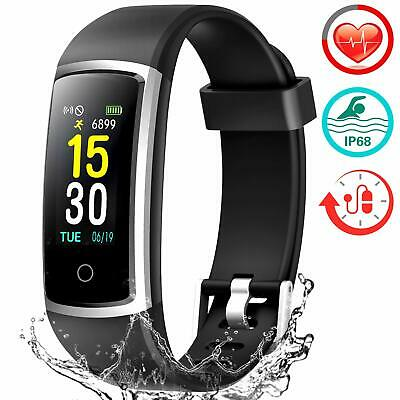 FITFORT Smart Fitness Tracker Watch - Heart Rate Blood Pressure Sleep  Monitor