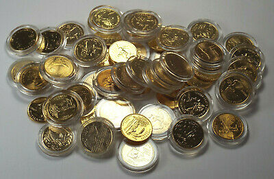 Lot of $14.75 Gold Plated Mixed Date P & D U.S. Statehood Quarter Coins