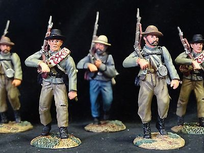 Conte Confederate Civil War  Marching Lee  Acw57110 6 Painted Pewter Figs