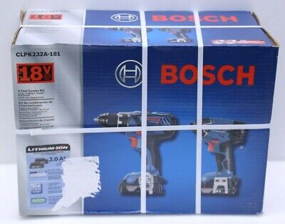 Bosch CLPK232A-181 18V Cordless Lithium-ion Drill/Driver Impact Combo Kit - NEW