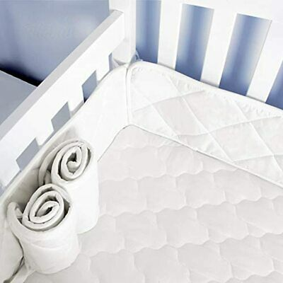 "Mini Crib Bumper Pads Portable Cribs 24""x 38"", Safe &amp Soft Pieces Baby White"