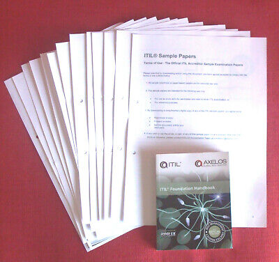 NEW ITIL Foundation Handbook 2011 edition by AXELOS & 2 Mock Exams with answers