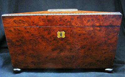 Antique Quality 19th Century Thuya Wood Tea Caddy