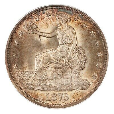 1876 Trade $1 PCGS Certified MS65 Premium Quality US Silver Coin