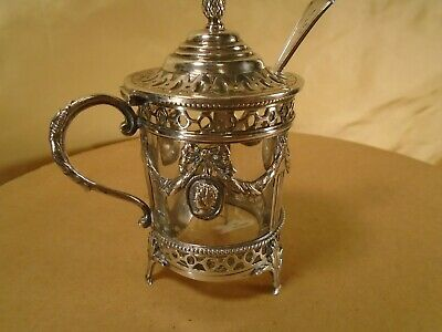 Antique Silver Jam Pot. No info as to age
