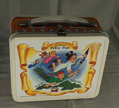 High Grade Original 1960'S Walt Disney's Peter Pan Metal Lunch Box Outstanding