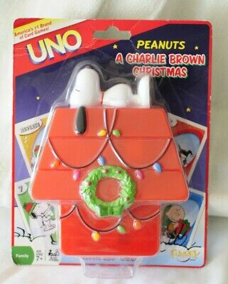 2007 Snoopy of Dog House UNO Card Game Peanuts Charlie Brown Christmas MIP