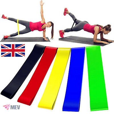 Resistance Bands Exercise Sports Loop Fitness Gym Home Yoga Latex Set Or Singles