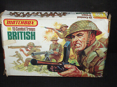 NOS BOXED Vintage Matchbox BRITISH COMBAT TROOPS TOY SOLDIERS P-6002
