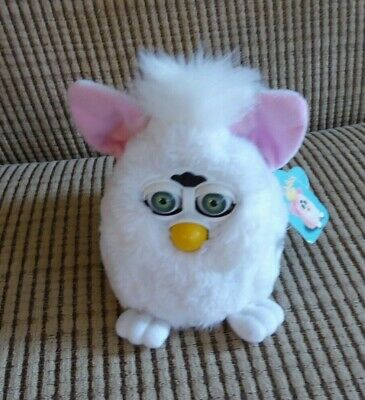 FURBY BABIES 1999 White with Pink Ears Tested and Working