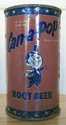 Can-A-Pop Root Beer Flat Top Soda Can, Sheridan WY, Man Cave Collection Cone