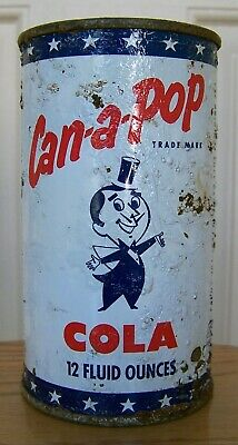 Can-A-Pop Cola Flat Top Soda Can, Sheridan WY, Man Cave Collection Cone