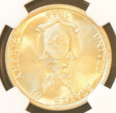 1944 S USA PHILIPPINES 50 Centavos Coin NGC MS 62