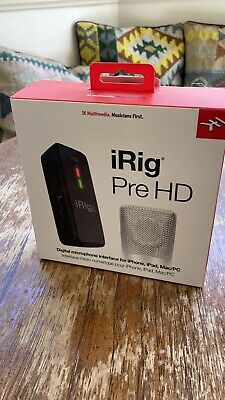 iRig Pre HD Digital, High Definition Microphone Interface Studio Quality PREAMP.
