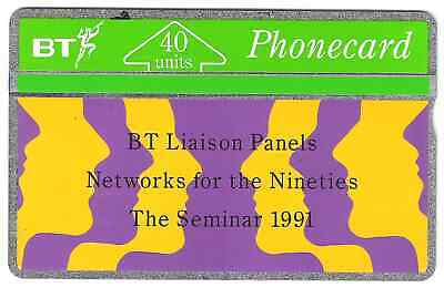 Liaison panels 1991 40u B T used phonecard a