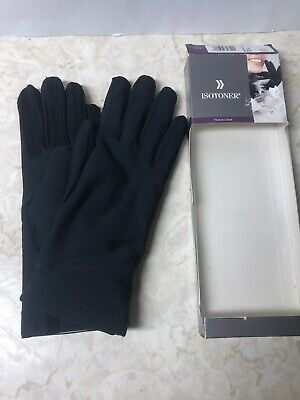 Isotoner Womens Classic Stretch Fleece lined Winter Driving Gloves Black OneSize