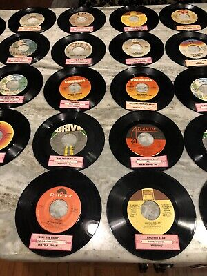 Jukebox Title Strips With Vinyl's Matching  62 In All  1970's