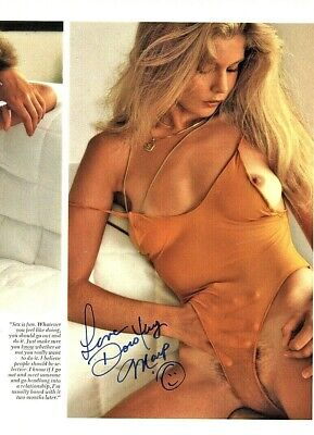 Rare July 1979 Playmate Dorothy Mays TWICE Autographed Playboy Magazine Page!