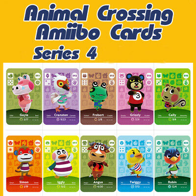 Animal Crossing New Horizons Card Amiibo Card Work for NS Game Series 4 330--370