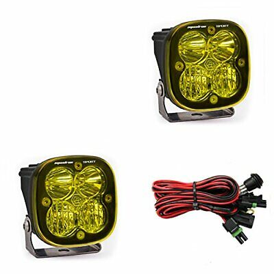 Baja Designs Squadron Sport LED Light Pods Amber Lens Driving / Combo Pair