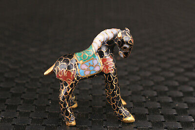 chinese mini old cloisonne horse statue figure big rare home decoration