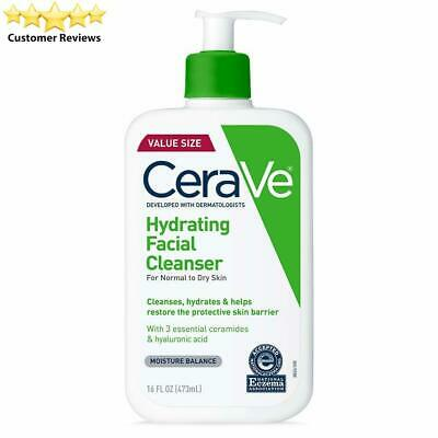 CeraVe Hydrating Face Wash | 16 Ounce | Daily Facial Cleanser for Dry 16 Fl Oz