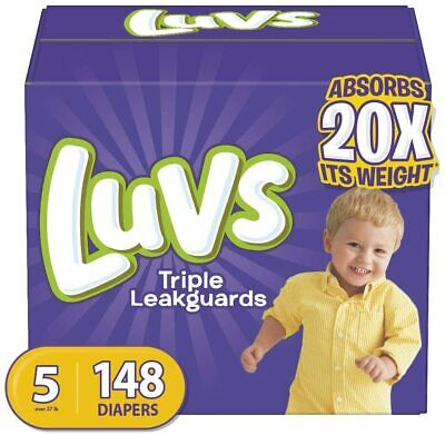 Diapers Size 5, 148 Count - Luvs Ultra Leakguards Disposable Baby Diapers, ONE