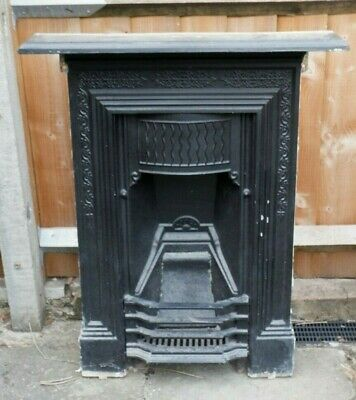 Antique Cast Iron Fireplace Fire Surround Victorian