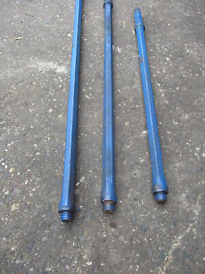 "Pneumatic Rock Drill 1"" Hex  Shafts (3)  28""/34""/40"" Lenghts"
