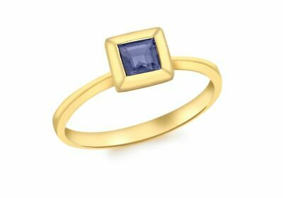 9ct or Jaune Carré Iolite Bague