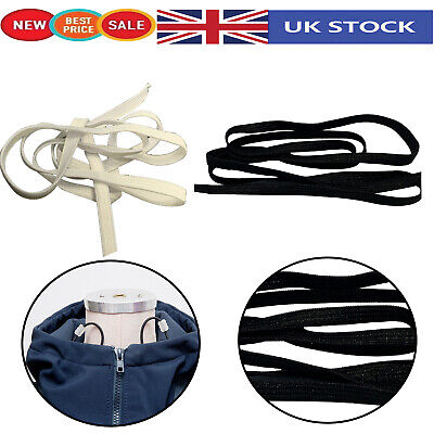 Flat Elastic Knitted Stretch Cord for Sewing Dressmaking Tailoring Black White