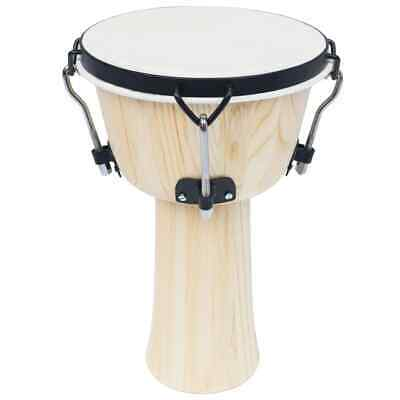 vidaXL Djembe Drum with Rod Tension 25cm Goat Skin Hand Percussion Bongo Dot