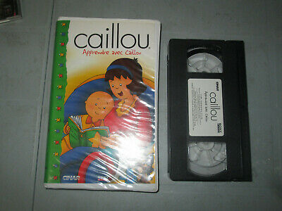 Caillou - Apprendre Avec Caillou  (VHS)(French)  Tested Clamshell