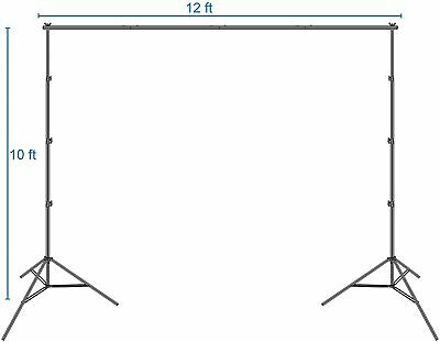 Emart 10 x 12ft (H X W) Photo Backdrop Stand Kit