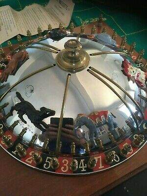 french JAG c1920s animal roulette wheel boxed + accessories very good condition