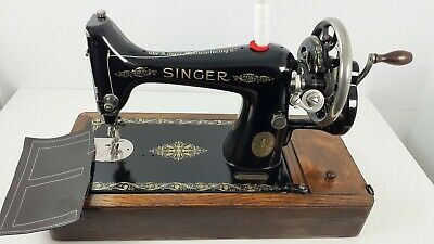 Semi-Industrial Singer 99K Handcrank Sewing Machine, NEWLY SERVICED,sews LEATHER