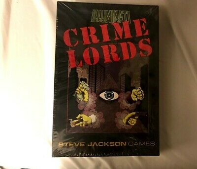 Illuminati Crime Lords (Steve Jackson Games), BRAND NEW SEALED long out of print