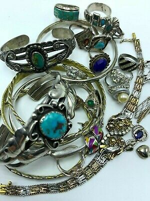 228 Grams Lot of Vintage 925 Signed Jewelry Wearable or Scrap