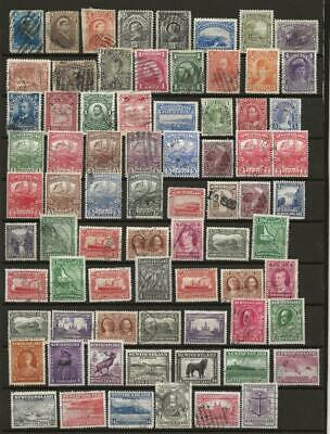 NEWFOUNDLAND Good to Fine Used Collection of 76 Different Early Stamps QV onward
