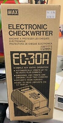 MAX EC-30A Checkwriter,Electronic