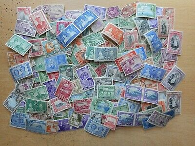 British Empire George VI 200 different mint and used stamps