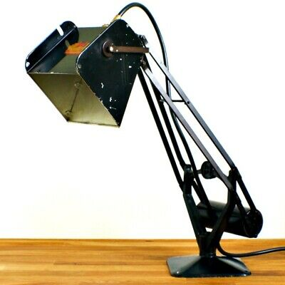 EARLY HADRILL & HORSTMANN 'PLUSLITE' LAMP WITH SWIVEL HEAD - INDUSTRIAL - 1940's