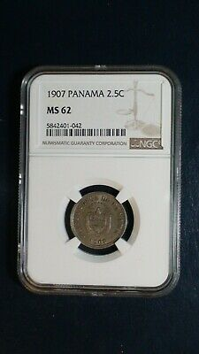 1907 PANAMA 2 1/2 CENTESIMOS NGC MS62 2.5C Coin PRICED TO SELL RIGHT NOW!
