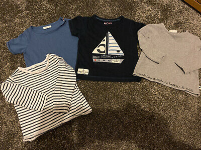Bundle Next Boys Tops 6-9 Months Baby Clothes Set Of 4 Two Long Two Short